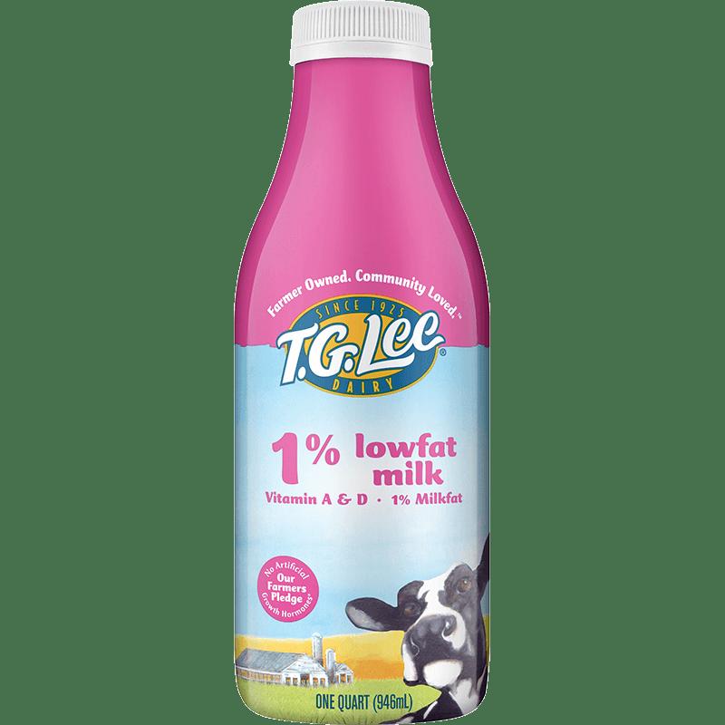1% Lowfat Milk Plastic Quart