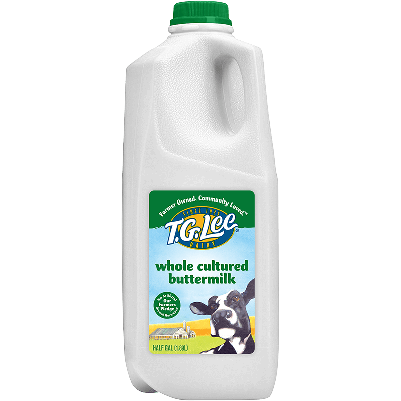 Whole Buttermilk Plastic Half Gallon