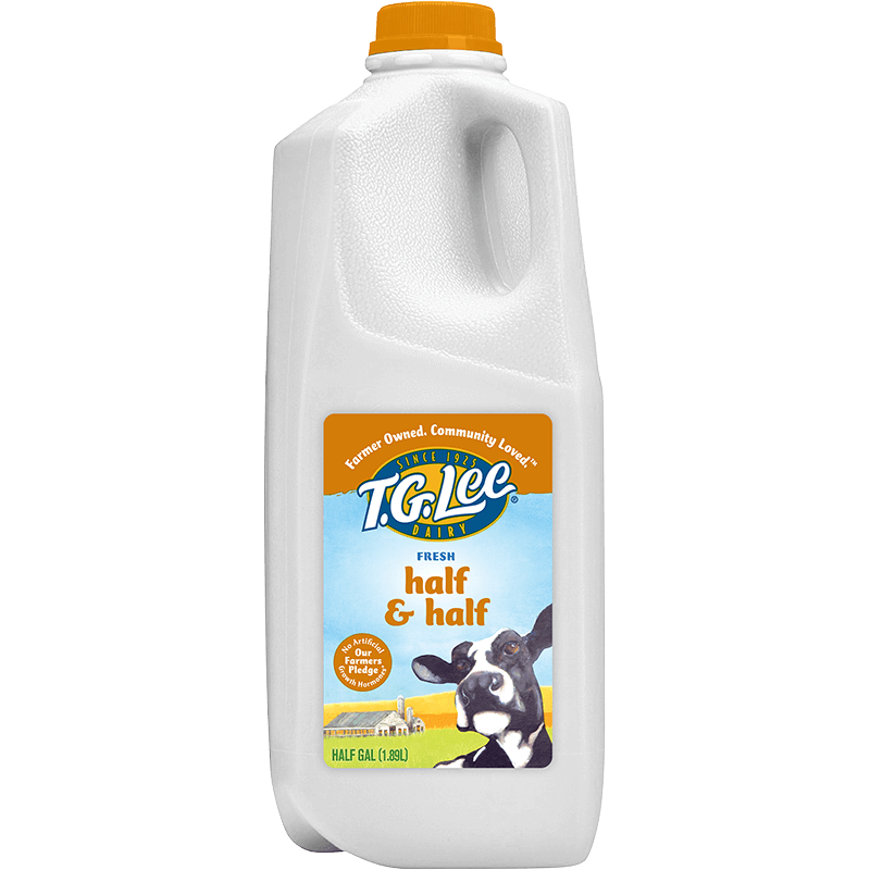 Half & Half Plastic Half Gallon